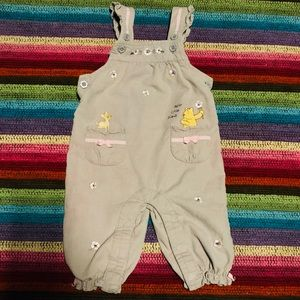 🍯 Disney Winnie The Pooh Overalls 🌸 Buttons 9M